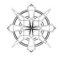 Mandala #110 || Mono by RedBookJournals