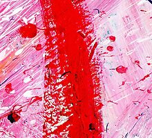 RED ABSTRACT by PIMPINELLA