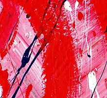 RED ABSTRACT by Catrin Kassube
