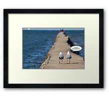come on, they'll have fish... Framed Print