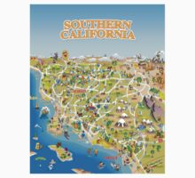 Cartoon Map of Southern California Kids Clothes