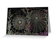 Morning Dew Spiderwebs Greeting Card