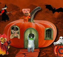 GUESTS ARRIVING FOR TEDDY BEARS HALLOWEEN PARTY by ✿✿ Bonita ✿✿ ђєℓℓσ