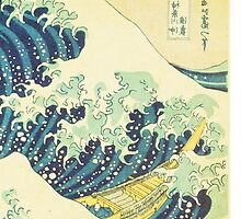 The Great Wave off Kanagawa (detail) by HumanlineImages