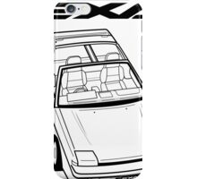 Nissan Exa Action Shot iPhone Case/Skin