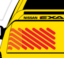 Nissan Exa Coupe - Yellow Sticker