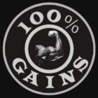 100% GAINS LOGO by Wonder Arts