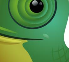Funny cartoon chameleon Sticker