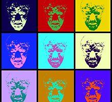 The Wolf Man Pop Art by SquareDog