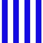 Blue White Stripe Bed Cover by deanworld