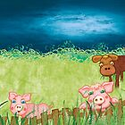 The Milkmaid Collection - Illustration Nr. 3 - farm animals by silvianeto