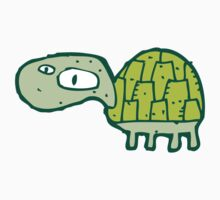Funny cartoon turtle Kids Clothes
