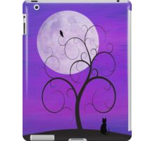 Purple Moon Cat iPad Case/Skin