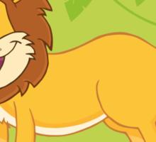 Happy cute cartoon lion Sticker