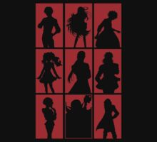 Tales of Xillia 2 - Character Roster (Red) by SvenjaMarc