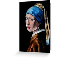Girl with the Pearl Earring Greeting Card