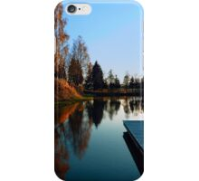 Romantic evening at the lake VI | waterscape photography iPhone Case/Skin