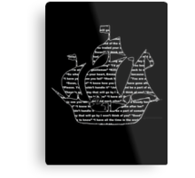 Captain Swan quotes - ship Metal Print
