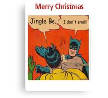 Batman Smells Canvas Print