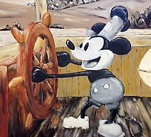 Steamboat Willy Painting by JacobCarder