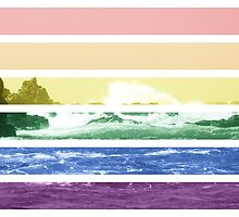LGTB flag on waves crashing by Margotte