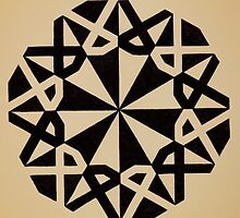 Mandala #216 || Tan by RedBookJournals