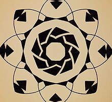Mandala #217 || Tan by RedBookJournals