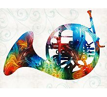 Colorful French Horn - Color Fusion By Sharon Cummings Photographic Print