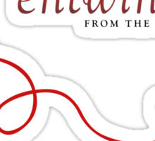 Red String of Fate. Sticker