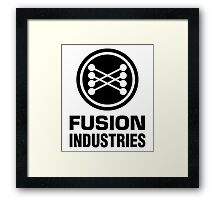 Fusion Industries - Back to the Future (Black) Framed Print