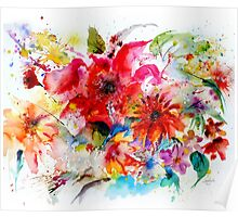 """ Watercolor garden II "" Poster"