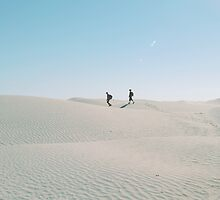 Walking alone in the Sahara desert by Margotte