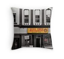 Wong Kwon - selective colour Throw Pillow
