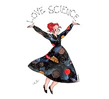 Miss Frizzle loves science Photographic Print