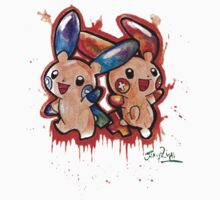 Cute Plusle and Minun Tshirts + More by Jonny2may