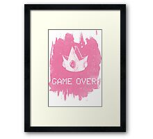 Game Over Princess Peach Framed Print