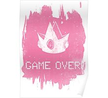 Game Over Princess Peach Poster