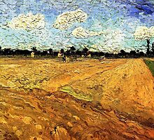 Ploughed Field by Vincent van Gogh. by naturematters