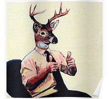 Deer Man, Thumbs Up Poster