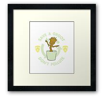 Save A Groot Framed Print