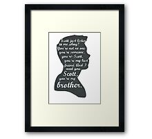 Stiles Quotes- Number One in a Series Framed Print