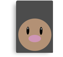 Diglett Ball Canvas Print