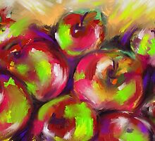 Dappled Apples by Janette  Leeds