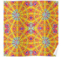Psychedelic jungle kaleidoscope ornament 17 Poster