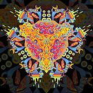 Psychedelic jungle kaleidoscope ornament 20 by Andrei Verner