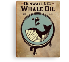 Wundall & Co Whale Oil Canvas Print