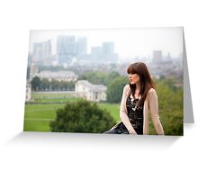 A day out in Greenwich - A view for dreams Greeting Card