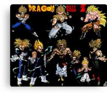 Dragonball Z  super saiyans Canvas Print