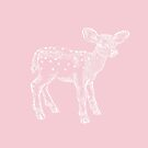Dear Deer, Pink and White Fawn by ThistleandFox