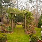 The November Garden Scene by Marilyn Cornwell